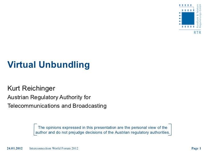 Virtual Unbundling in Austria