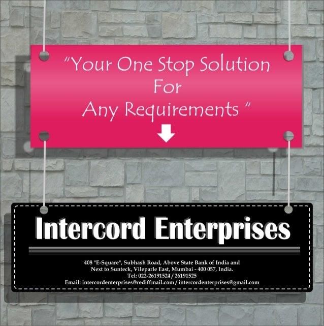 Intercord enterprises product profile