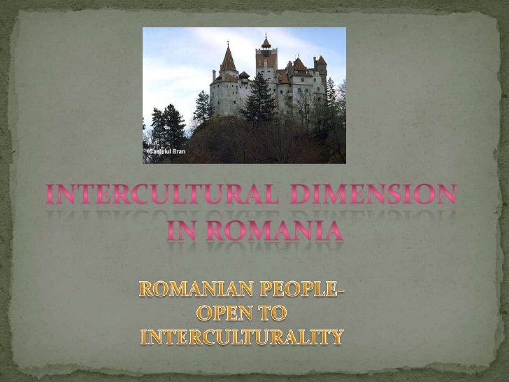 """Presentation from the Romanian partners about """"Multicultural Romania""""."""