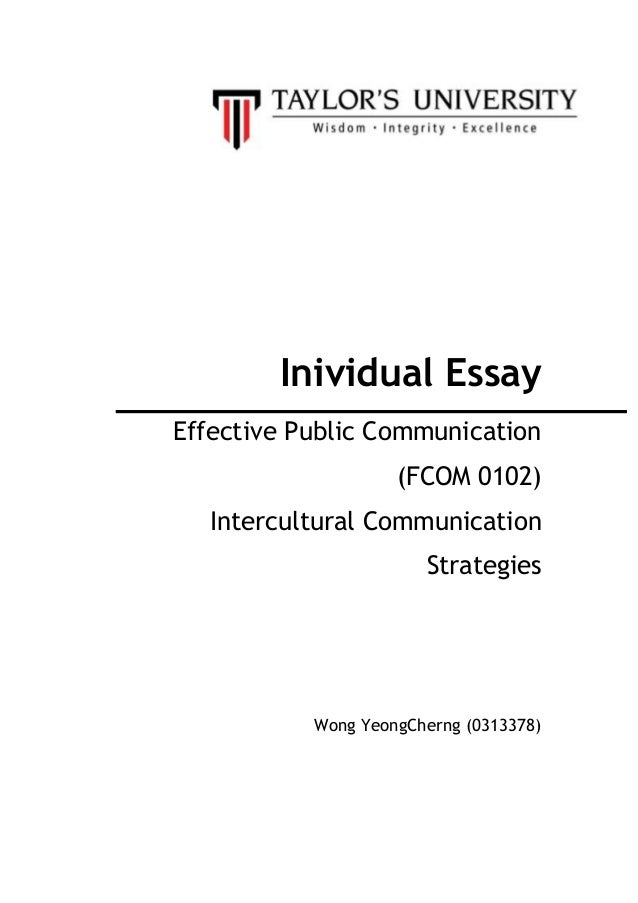Intercultural communication - UK Essays