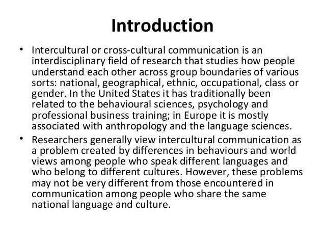 a report on intercultural communication Unlike most editing & proofreading services, we edit for everything: grammar, spelling, punctuation, idea flow, sentence structure, & more get started now.