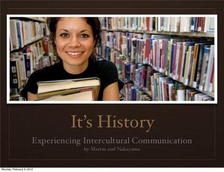 History and Intercultural Communication