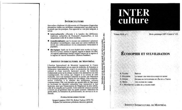 Interculture 10 l'iim et sa revue, une alternative interculturelle et un interculturel alternatifs