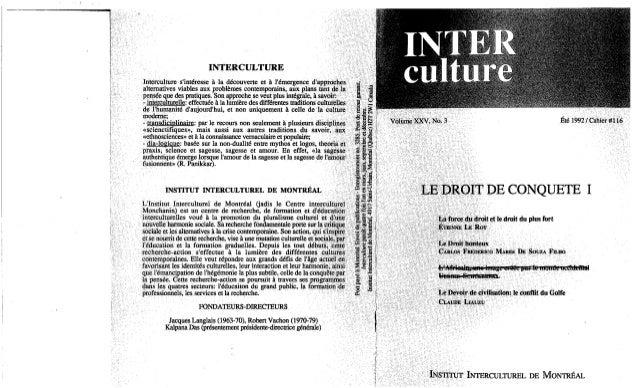Interculture 11 écosophie et sylvilization