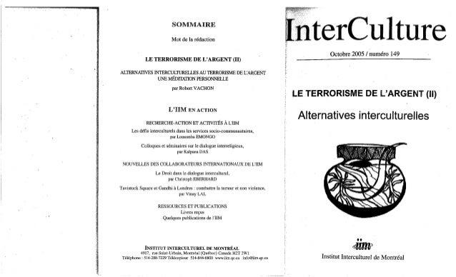 Interculture 2 le terrorisme de l'argent, c1