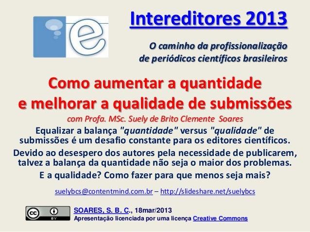Suelybcs no InterEditores 2013