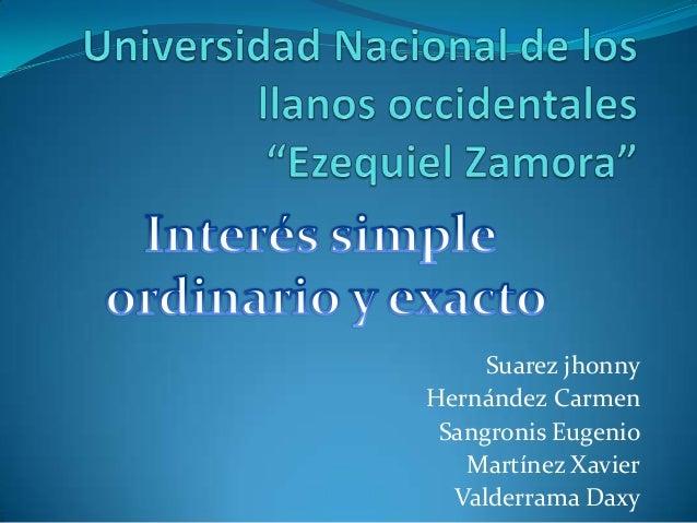 Suarez jhonnyHernández CarmenSangronis EugenioMartínez XavierValderrama Daxy