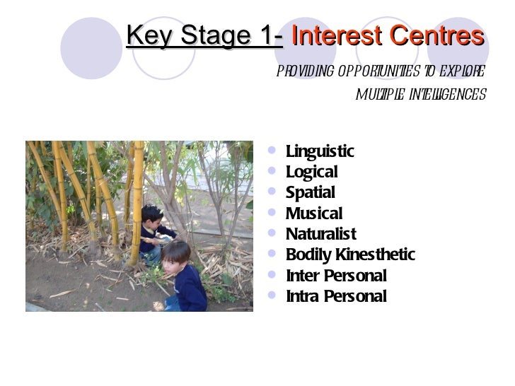Key Stage 1- Interest Centres            providing opporunit t expl e                           t ies o   or              ...