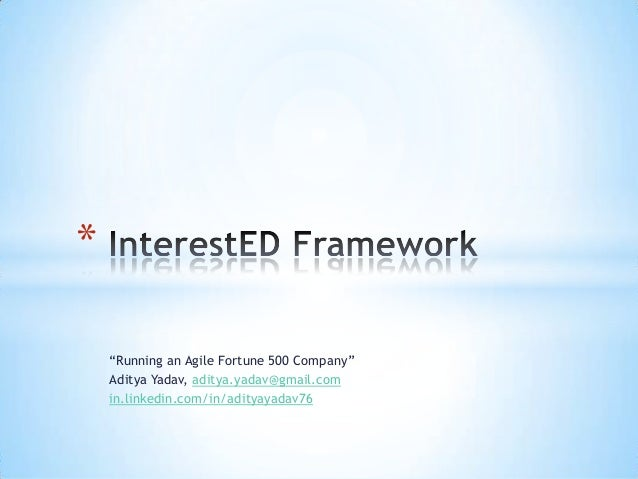 InterestED Framework - Aditya Yadav