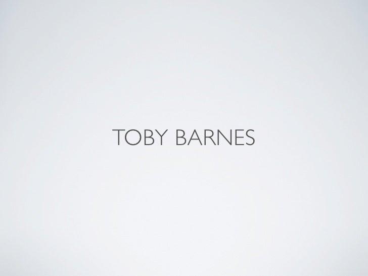 TOBY BARNES