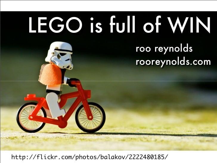 LEGO is full of WIN