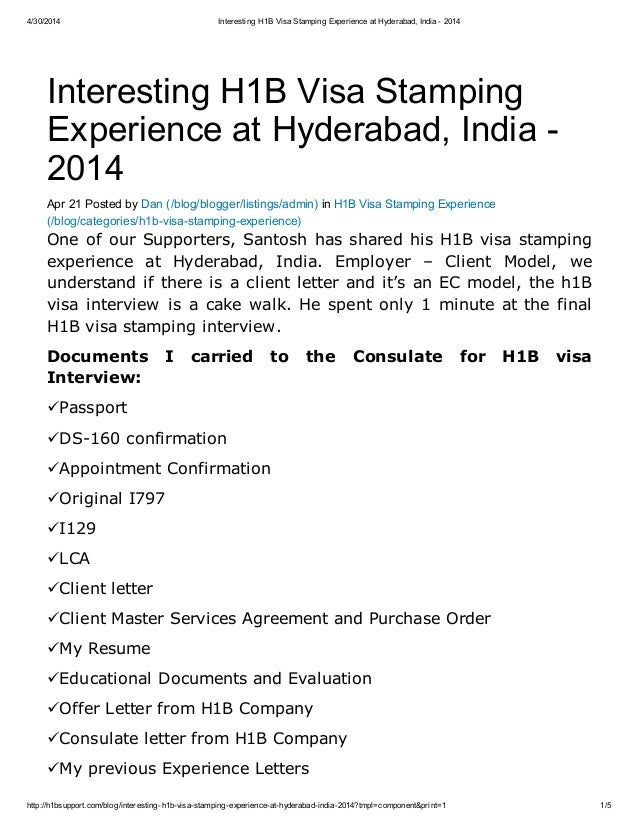 interesting h1b visa sting experience at hyderabad