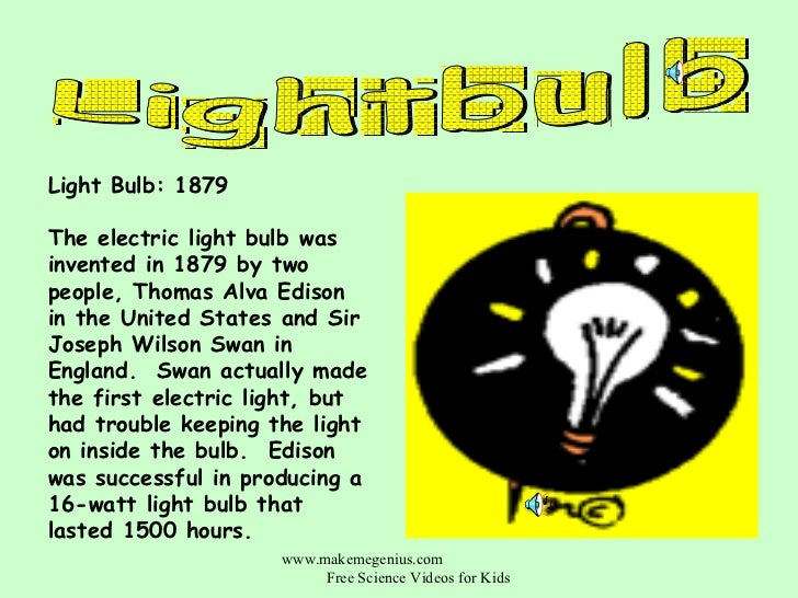 light bulb facts for kids