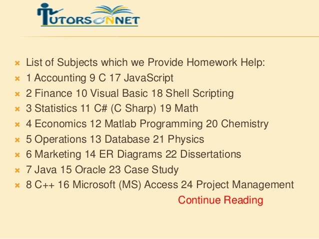 Best website for homework help |