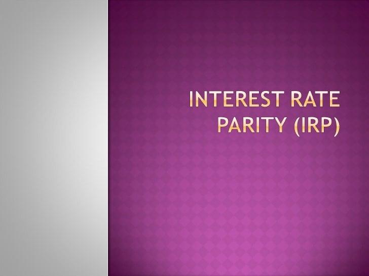 Interest rate parity 1