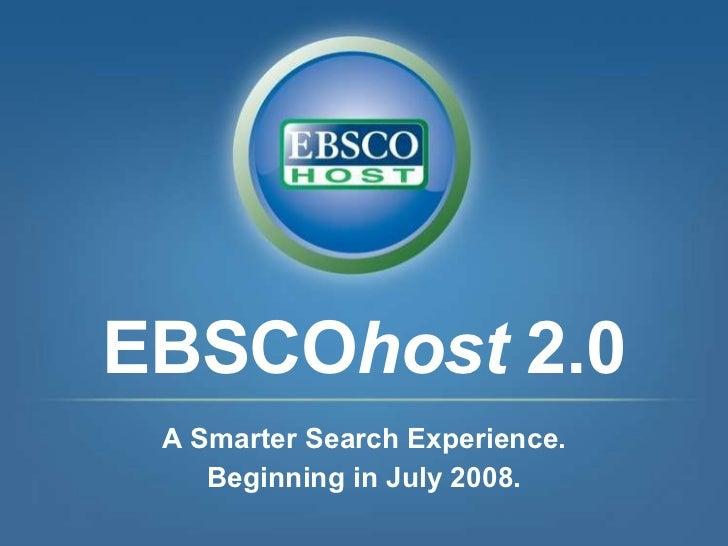 Ebsco 2.0