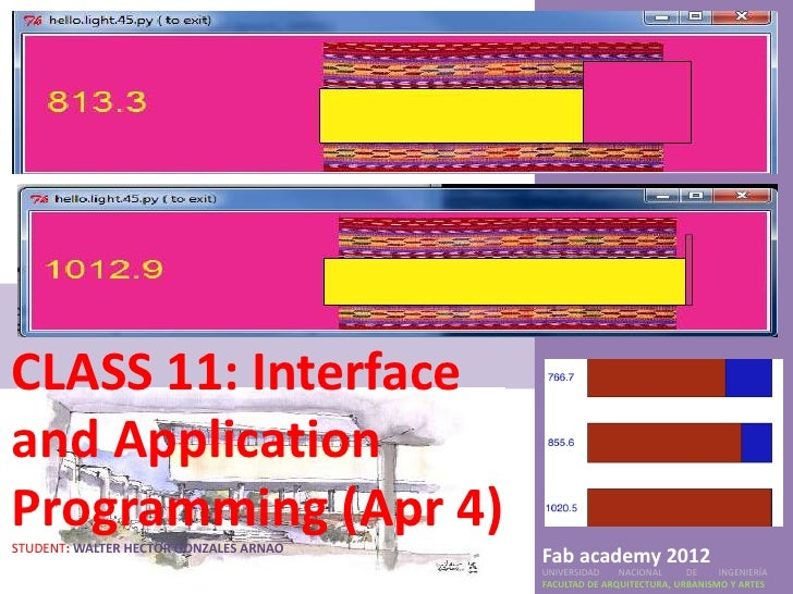 CLASS 11: Interfaceand ApplicationProgramming (Apr 4)STUDENT: WALTER HECTOR GONZALES ARNAO                                ...