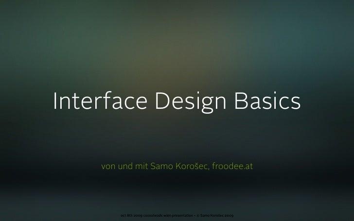Interface Design Basics (deutsch)