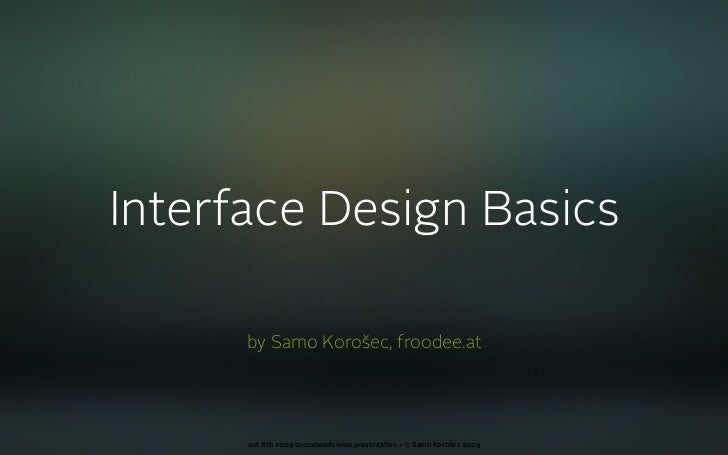 Interface Design Basics (english)