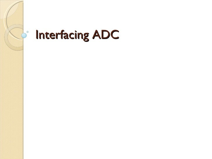 Interfacing adc