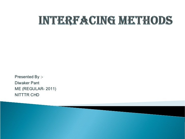 Interfacing methods of microcontroller