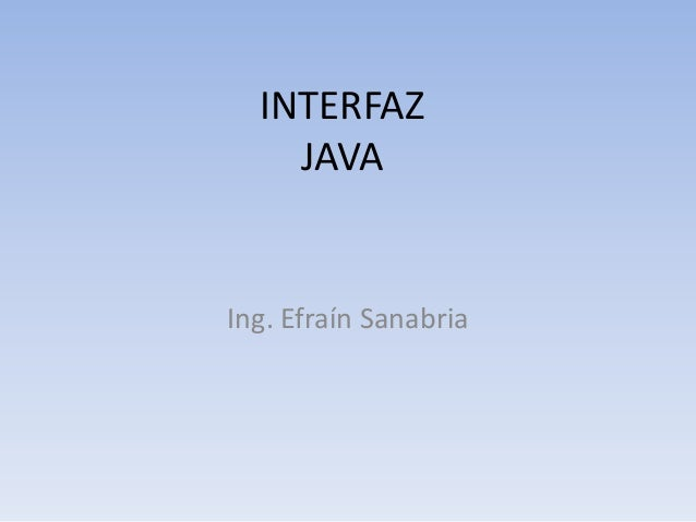 Interfaz java