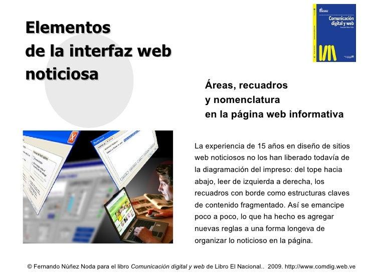 Interfaz web - elementos