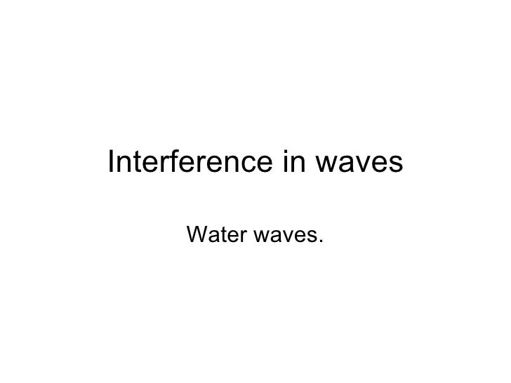 Interference In Waves