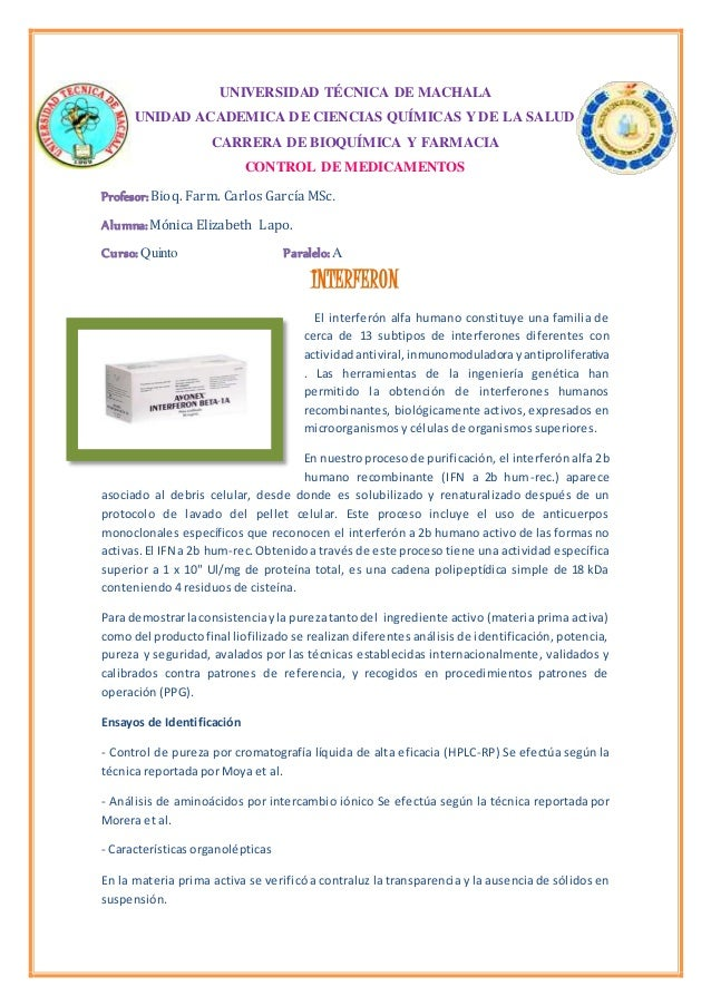 UNIVERSIDAD TÉCNICA DE MACHALA UNIDAD ACADEMICA DE CIENCIAS QUÍMICAS Y DE LA SALUD CARRERA DE BIOQUÍMICA Y FARMACIA CONTRO...