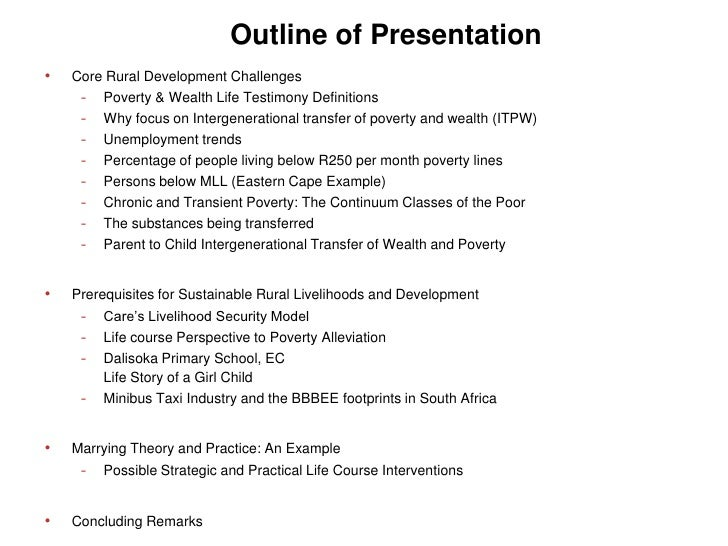 essay outline about poverty