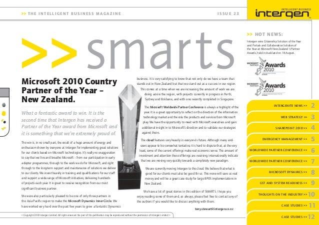 Intergen Smarts 23 (2010)
