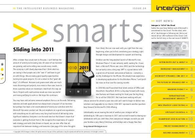 Intergen Smarts 24 (2010)