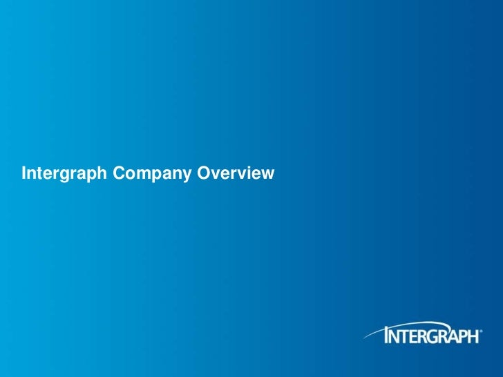 Intergraph Company Overview