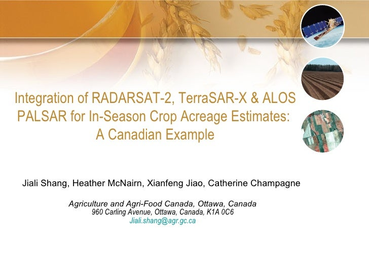 TH4.L09 - INTEGRATION OF RADARSAT-2, TERRASAR-X and ALOS PALSAR DATA FOR IN-SEASON CROP ACREAGE ESTIMATES: A CANADIAN EXAMPLE