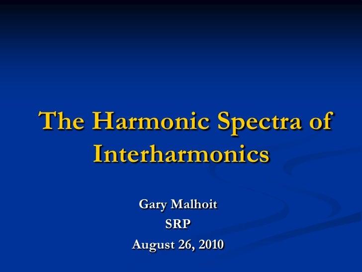 Interharmonics