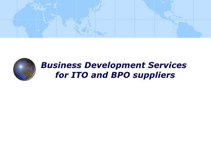 Business Development Services  for ITO and BPO suppliers