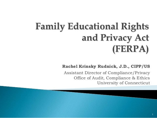 Rachel Krinsky Rudnick, J.D., CIPP/US Assistant Director of Compliance/Privacy Office of Audit, Compliance & Ethics Univer...