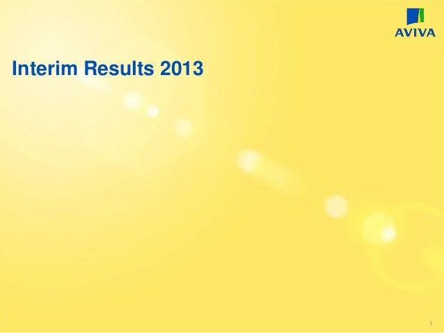 Interim Results 2013 1