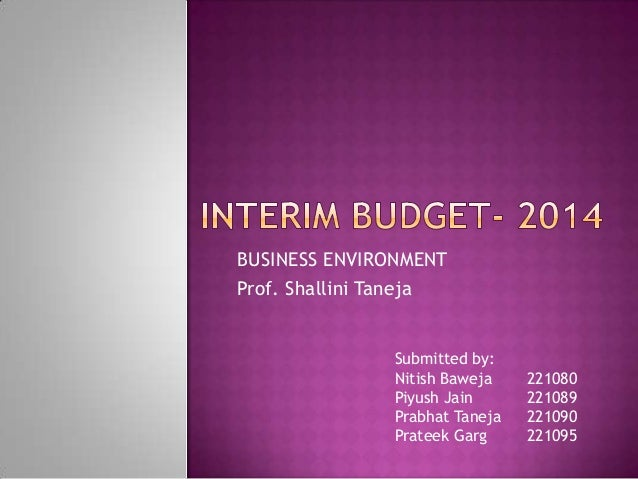 BUSINESS ENVIRONMENT Prof. Shallini Taneja  Submitted by: Nitish Baweja Piyush Jain Prabhat Taneja Prateek Garg  221080 22...