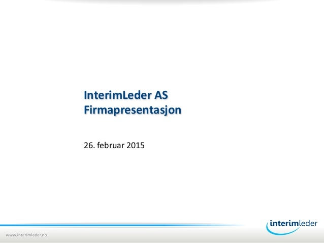 InterimLeder firmapresentasjon