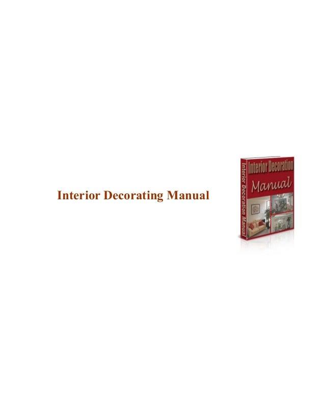 Interior decorating manual