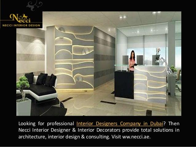 Interior Designers Company In Dubai.