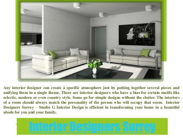Interior designers surrey for Interior design surrey
