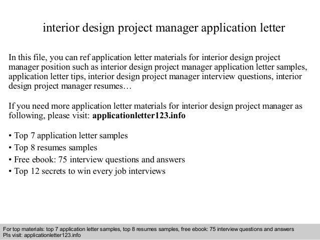 Application Letter Interior Design] letter interior design