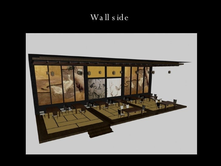 Interior design project restaurant