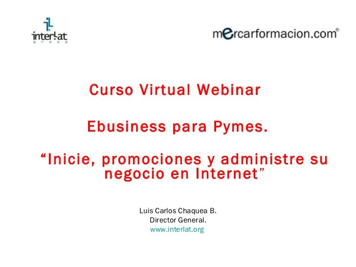 Ebusiness para Pymes Curso virtual módulo 1