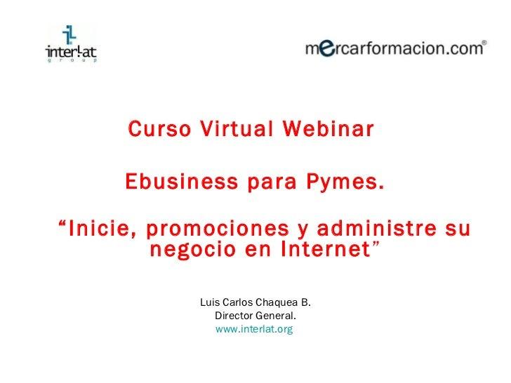 Ebusiness para Pymes Curso virtual módulo 1