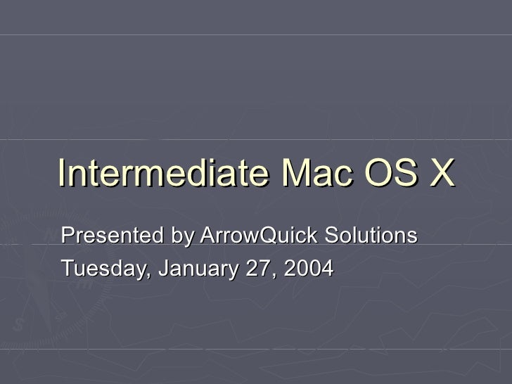 Intermediate Mac OS X