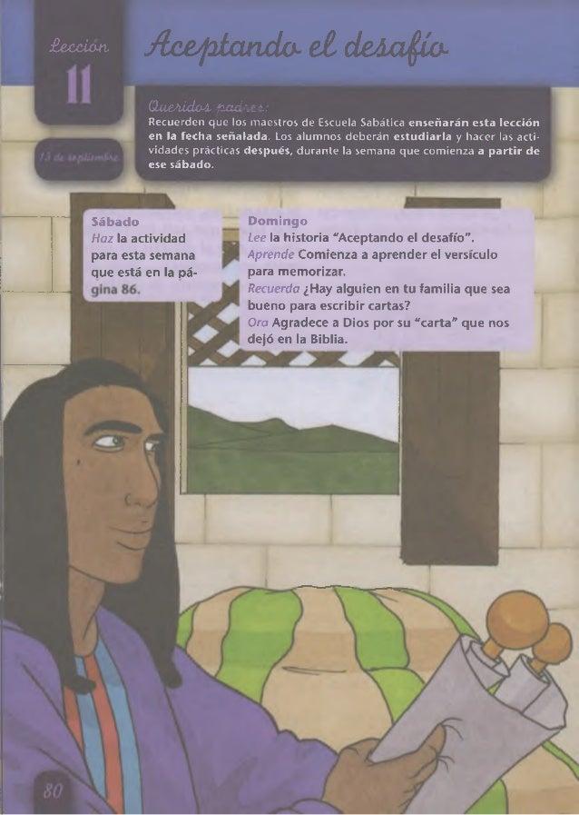 £exuúxm Ax&píarido-eldeAajjío- (laeAiclaA pudA&l: Recuerden que los maestros de Escuela Sabática enseñarán esta lección en...