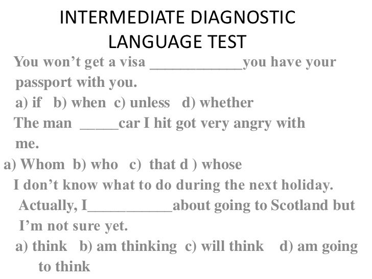 diagnostic testing and language ability A diagnostic tools used by evaluators to determine whether a student has learning disabilities a student with learning disabilities often scores high in oral language and verbal ability there are two types of educational testing achievement testing and diagnostic testing.